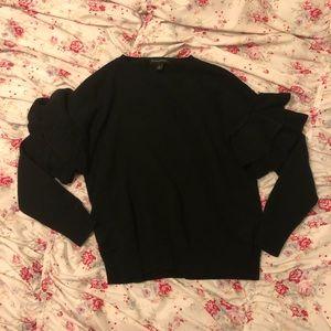 Banana Republic Dramatic Ruffle Sleeve Sweater